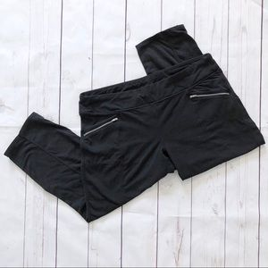 Athleta black crop Capri leggings